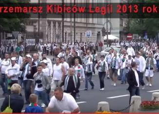 Przemarsz Kibiców Legii 2013 rok!