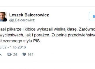 Pseudokibic Balcerowicz!