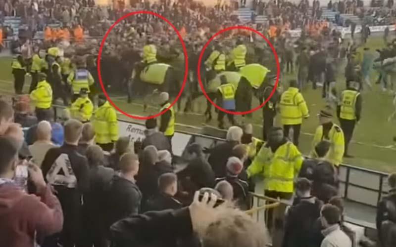 policja wtargnęła na boisko!