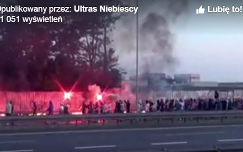 """""""Niebiescy"""" spalili flagę GKS!"""