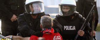 Policja blokuje mecz w Tomaszowie